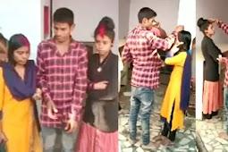 एक लड़के ने दो प्रेमिकाओं की भरी मांग,अजीबोगरीब शादी का वीडियो वायरल
