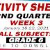 GRADE 6 ACTIVITY SHEETS (2nd Quarter: WEEK 3)