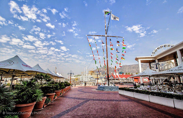 Canon EF-S 10-18mm IS STM Ultra-Wide Lens V&A Waterfront Cape Town - Entrance with Flags