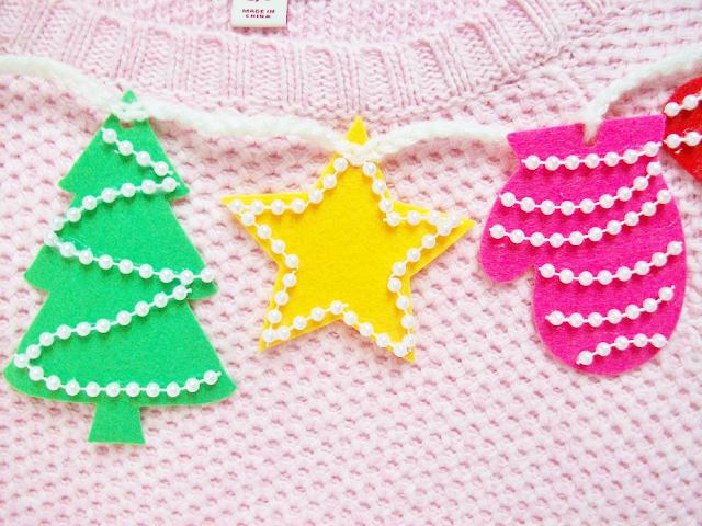 DIY Christmas Sweater Collar