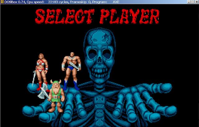 Golden Axe - Select Player Desription