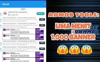 Admob Tools: 5 menit impress 1000 Banner (Auto Impress)