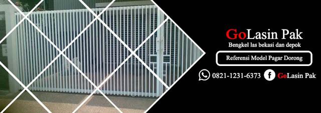 referensi model pintu pagar dorong minimalis 2019