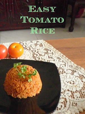 Easy Tomato Rice Recipe @ treatntrick.blogspot.com