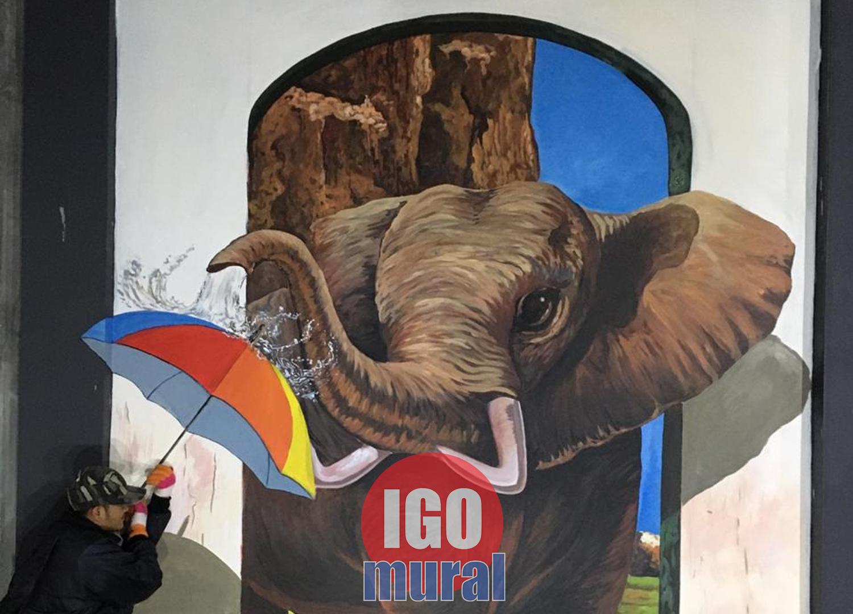 lukisan mural realis
