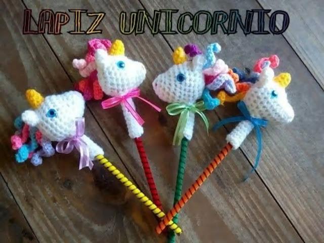 Tutorial Puntera para Lápices de Unicornios a Crochet