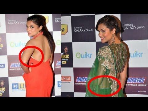 Esha Gupta wardrobe malfunction