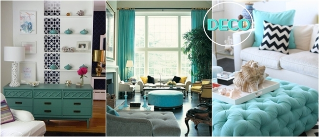 turquoise color home decor inspiration