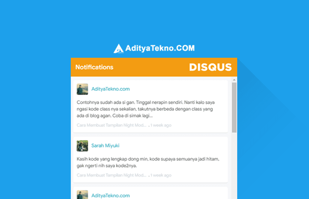 Cara Memasang Recent Comment Disqus di Blog