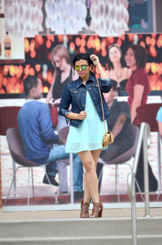 Comfy Style-Tendencia Lencera- Mari Estilo- Look of the day- Vestido Lencero- Chaqueta denim