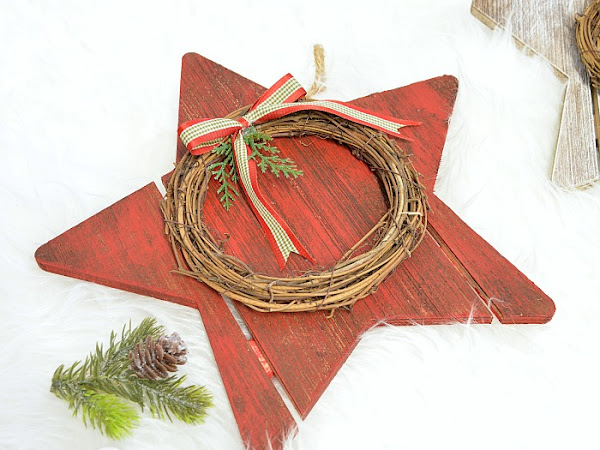 Dollar Store Christmas Wood Stars
