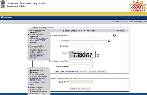 Aadhaar download from enrolment client