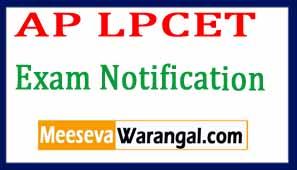 AP LPCET 2017 Exam Notification