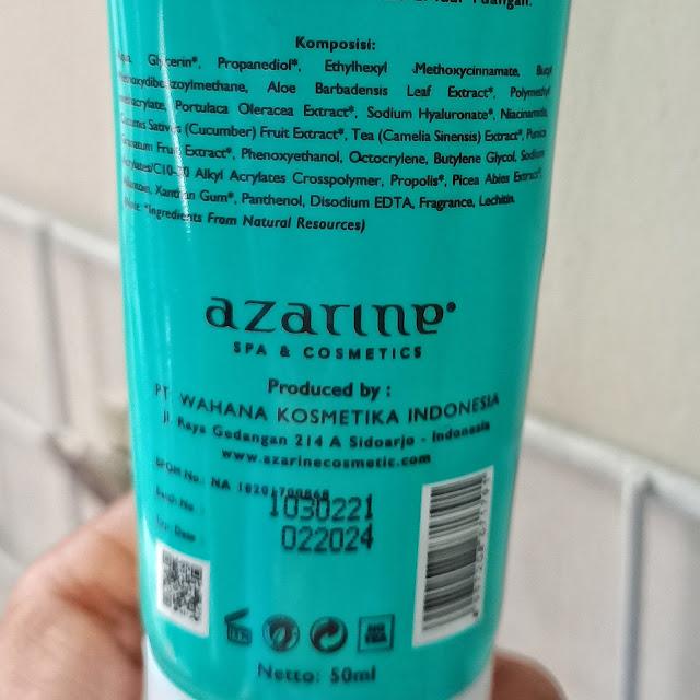 Sunscreen lokal azarine sunscreen