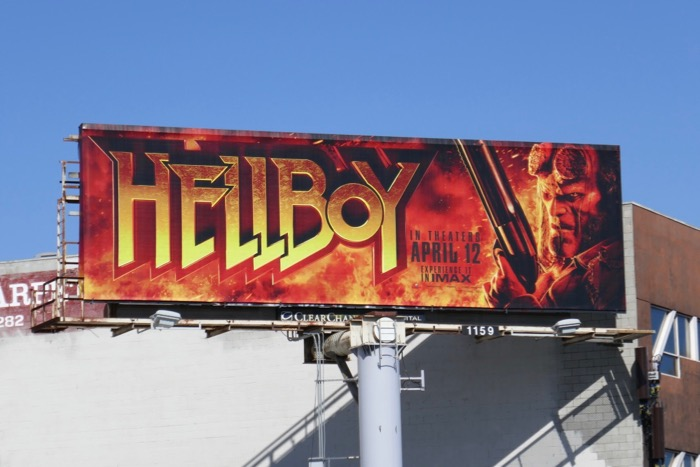 David Harbour Hellboy billboard