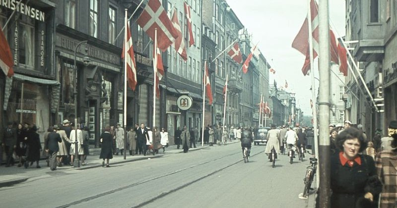 Copenhagen After May 5th, 1945: Rare Color Pictures From the Days Around the Liberation of Denmark