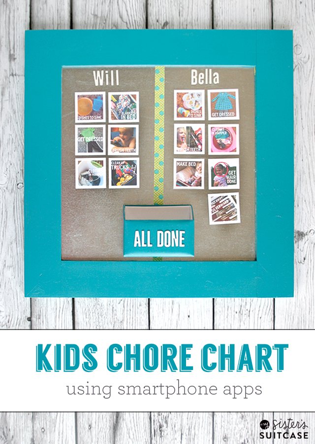DIY Kids Photo Chore Chart - My Sister\u0027s Suitcase - Packed with - sample chore chart