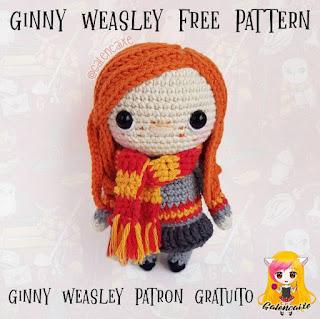 PATRON GRATIS GINNY WEASLEY | HARRY POTTER AMIGURUMI 39511