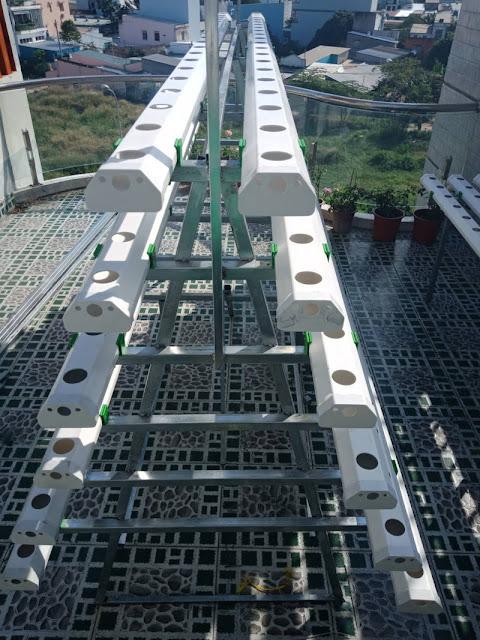 hệ thống thủy canh hồi lưu bằng ống pvc