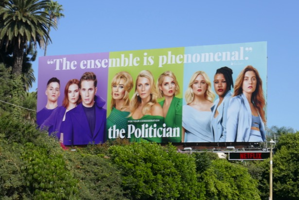 Politician season 1 FYC billboard