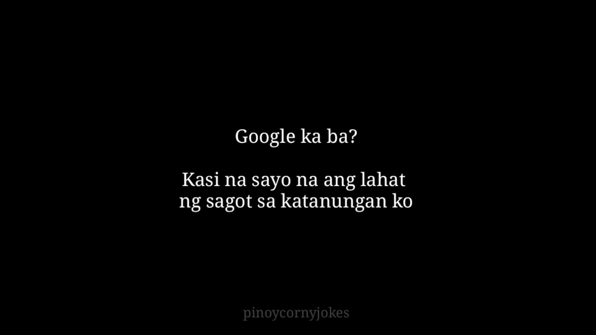 Google Tagalog Pickup Lines