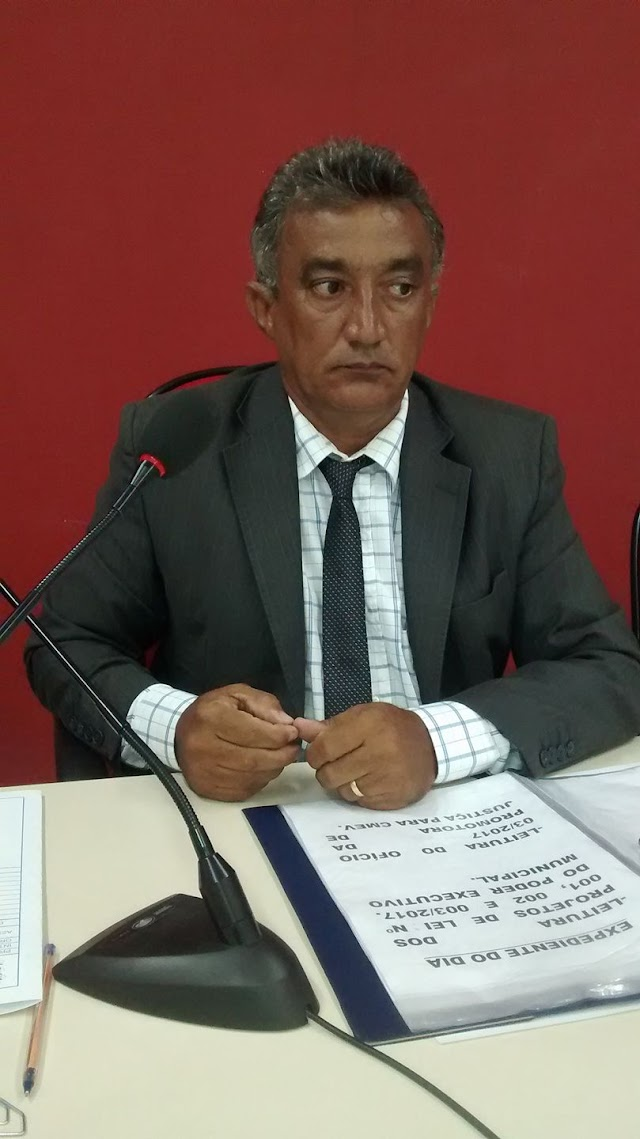 Presidente da Câmara de Elesbão Veloso testa positivo para COVID-19.
