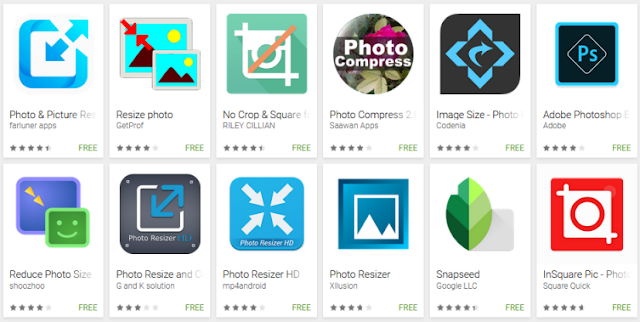 12 Aplikasi Yang Muncul di Play Store Saat Kita Masukkan Kata Kunci Resize Photo