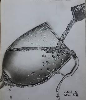 رسم شاب رسم بنت وشب