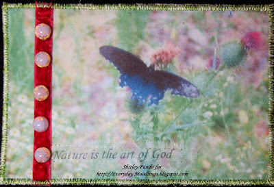 Nature is the Art of God post card