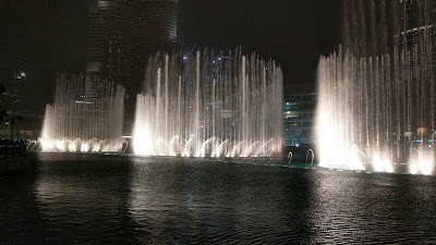 Дубай, фонтаны