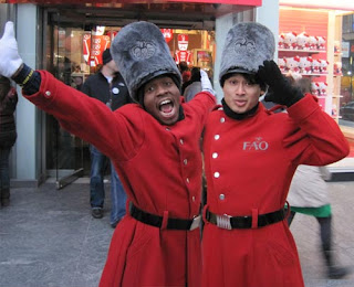 Excited FAO Soldier Greeters.