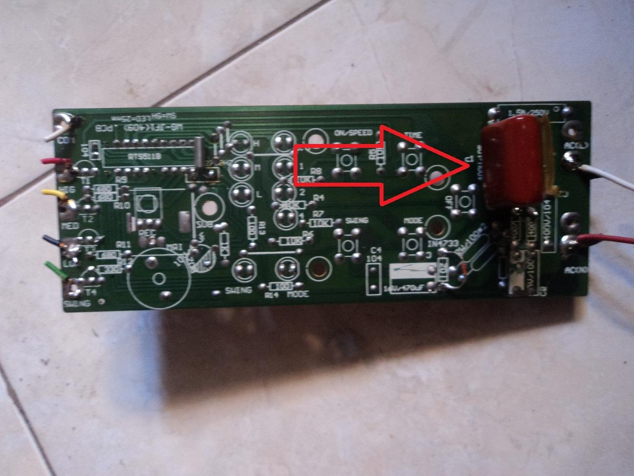 Elektronik Service Kipas Angin Maspion F409 Rc Mati