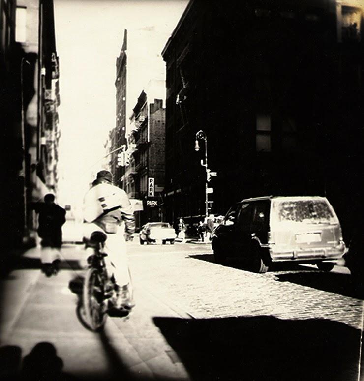 New York-street-analog-O J Art Gallery-Sping street-Soho-bike-winter
