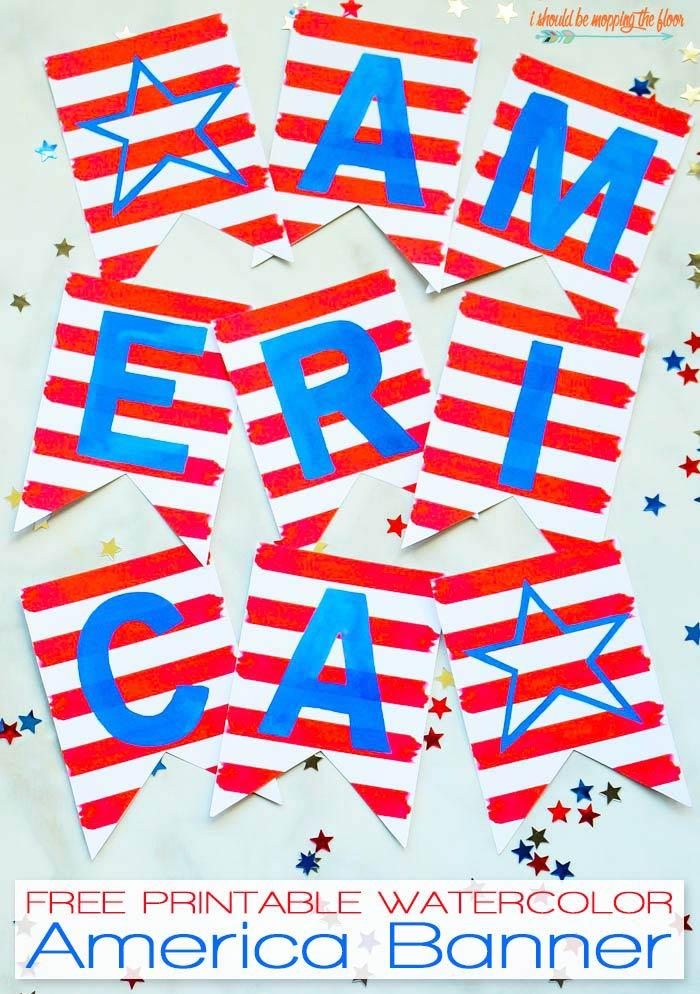 Patriotic Pennant Banner
