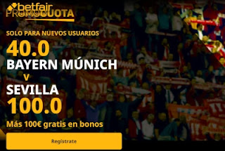 betfair supercuota Super copa europa Bayern vs Sevilla 24 septiembre 2020