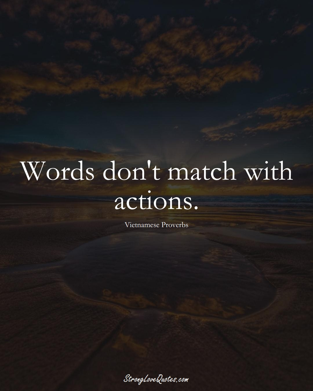 Words don't match with actions. (Vietnamese Sayings);  #AsianSayings