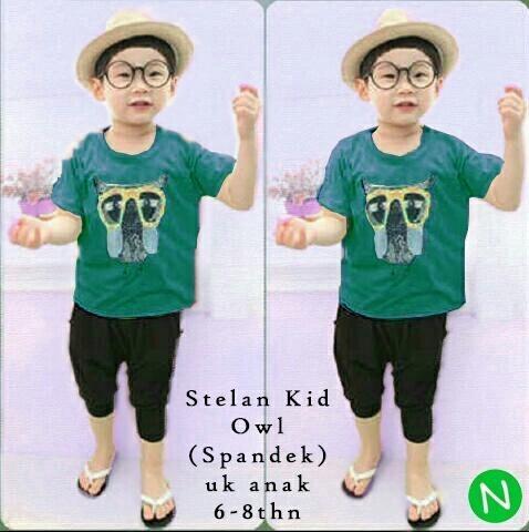 Jual Baju Anak Laki-laki Setelan Owl (Kids) - 12619