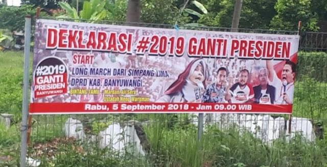 Aksi #2019GantiPresiden di Banyuangi Tak Dapat Izin, Panitia Akan Gugat Polisi, Bengini Jawaban Kapolres Banyuangi