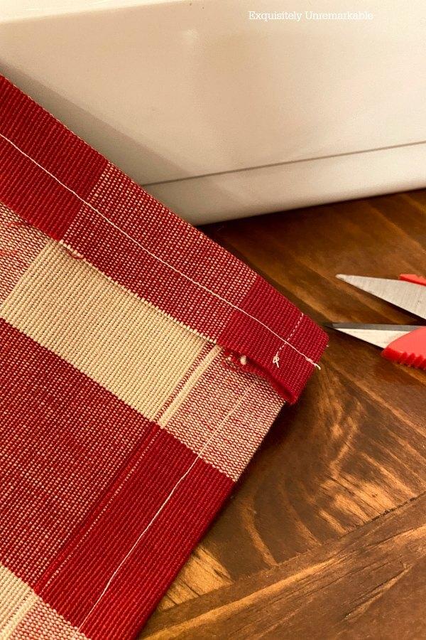Sewing Curtain Panel seams