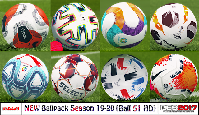 PES2017 New Ballpack Season 2019-2020 V4 By.EsLaM