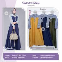 Jual Baju Busana Muslim Deandra Dress