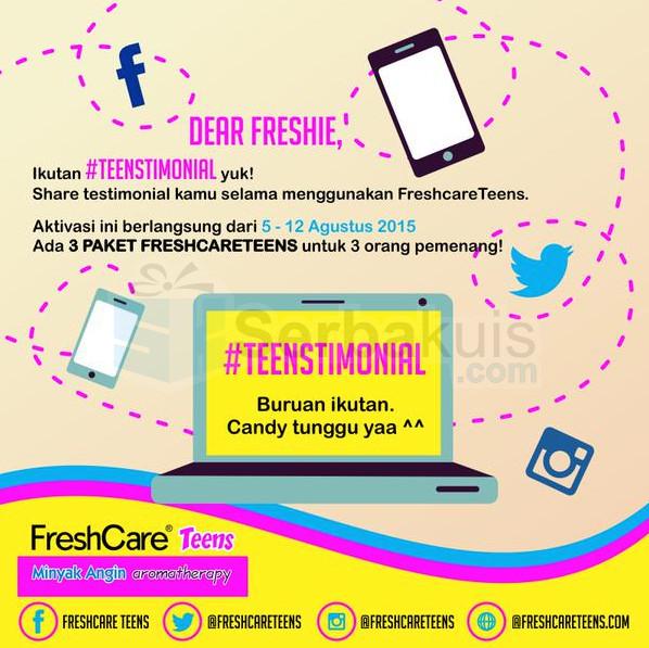Kuis Teenstimonial Berhadiah 3 Paket Freshcare Teens