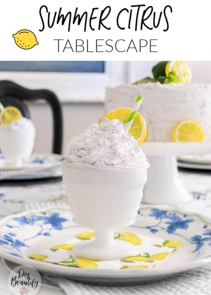 summer citrus tablescape