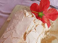 Rulo de merengue horneado