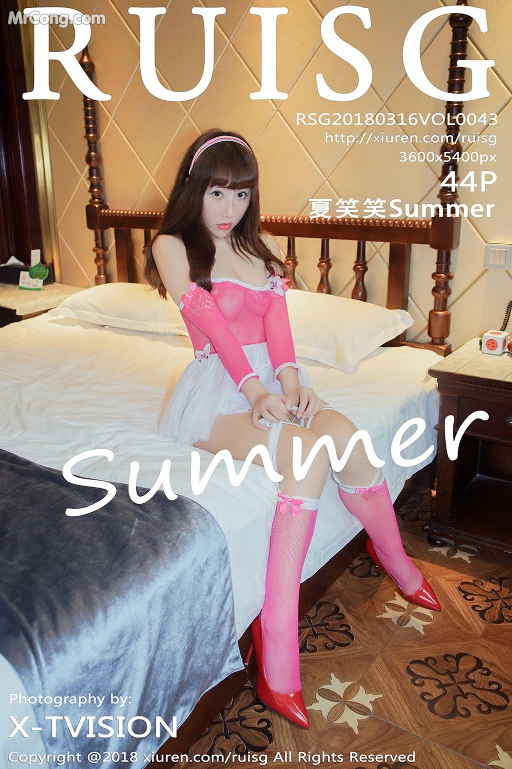 RuiSG Vol.043: Người mẫu Xia Xiao Xiao (夏笑笑Summer) (45 ảnh)