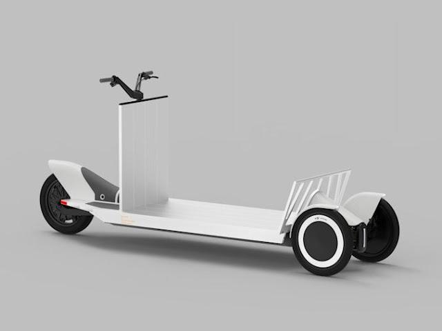 EV Concept Three Wheeled Cargo Sled