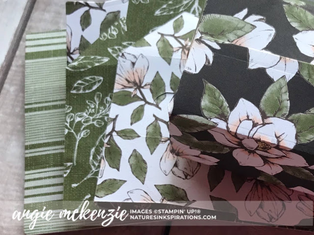 By Angie McKenzie for Stampin' Dreams Blog Hop; Click READ or VISIT to go to my blog for details! Featuring: my favorite Stampin' Up! Designer Series Paper (DSP), Magnolia Lane DSP, Come Sail Away DSP, Perfect Parcels dies; #perfectparceldies  #stampinupdsp  #magnolialanedsp #comesailawaydsp #bloghops #3dprojects