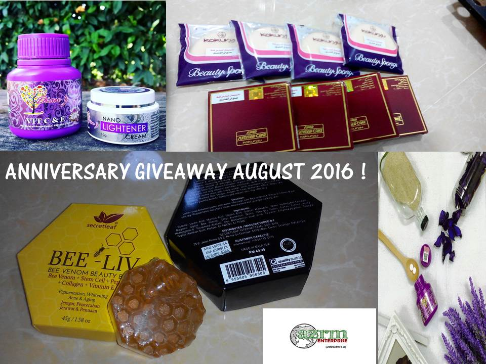 august anniversary giveaway, azrm enterprise
