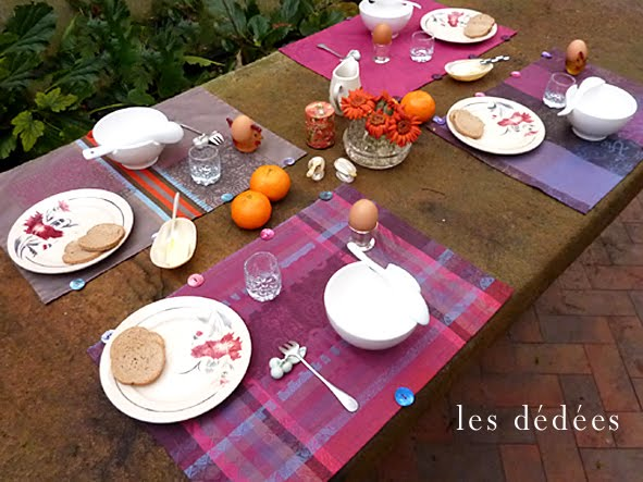 les dedees vintage recup creations les sets de table aux boutons by kate. Black Bedroom Furniture Sets. Home Design Ideas