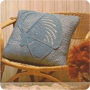 Cojín a Crochet Mariposa (Con las Alas Cerradas)